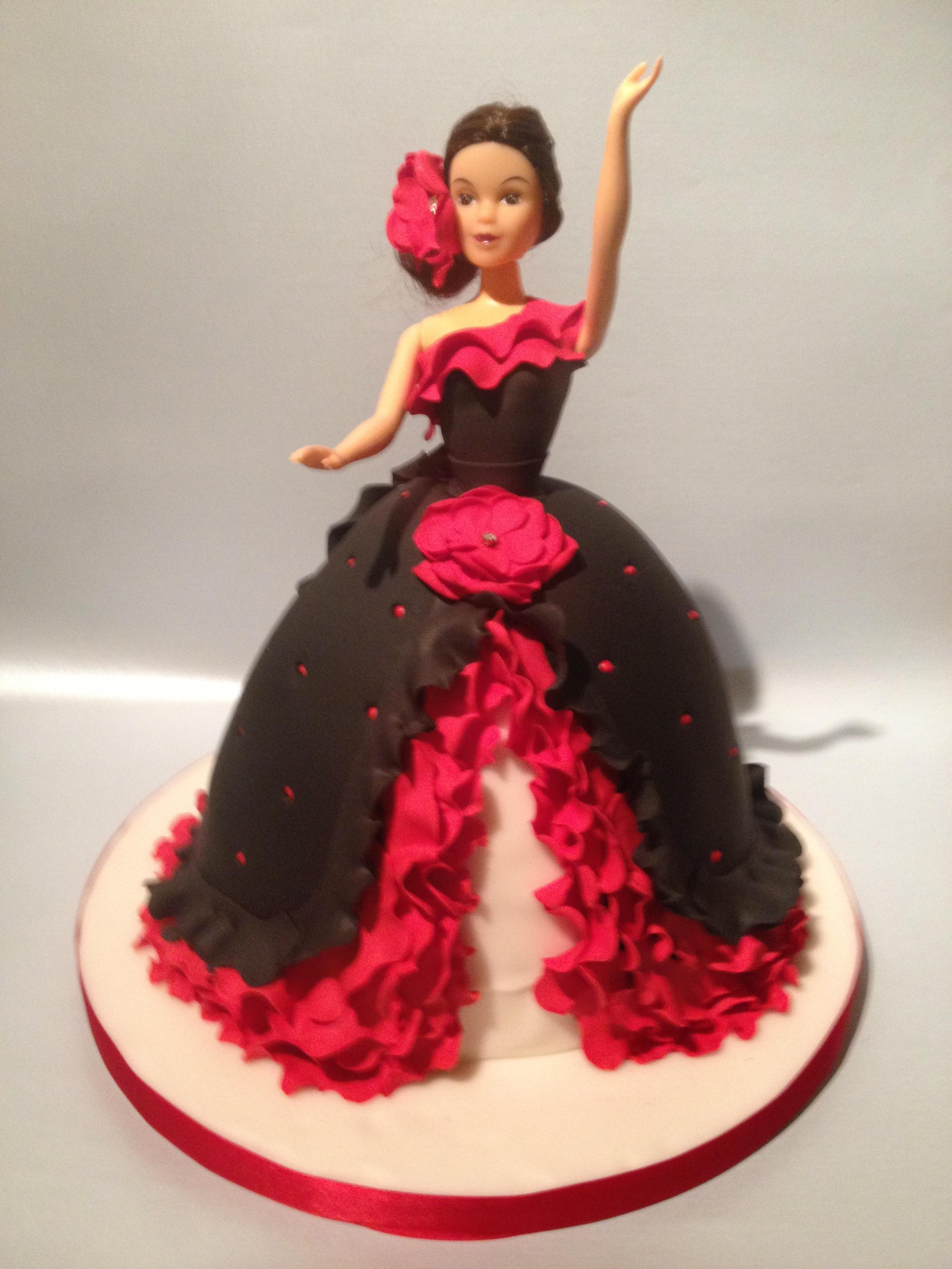 Flamenco Dancer Novelty Cake